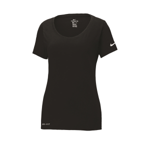 NIKE® DRI-FIT COTTON/POLY SCOOP NECK LADIES' TEE